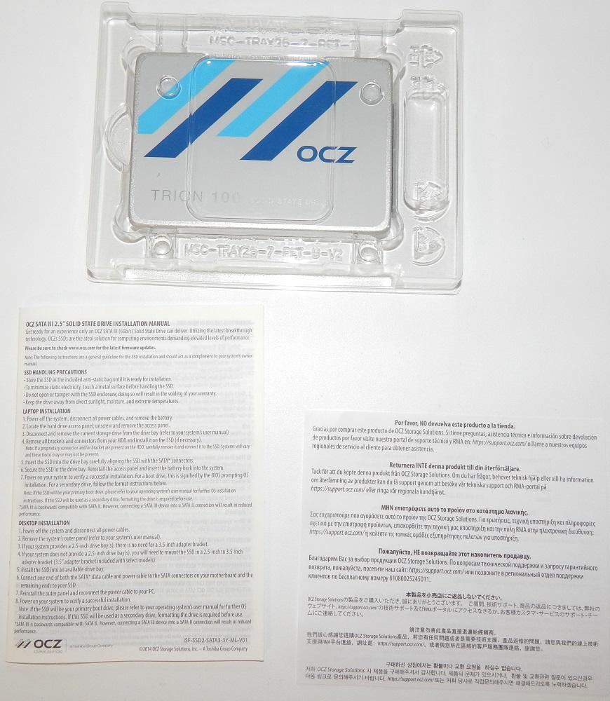Комплектация SSD OCZ Trion 100
