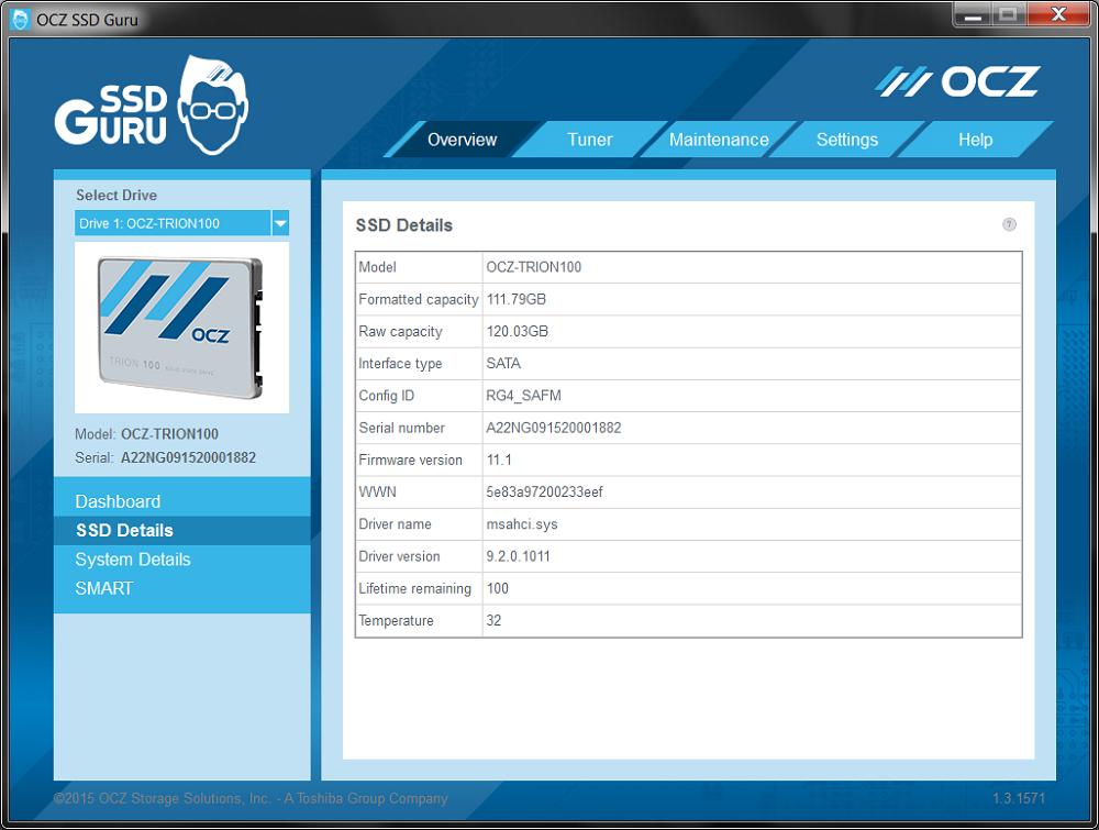 SSD Details