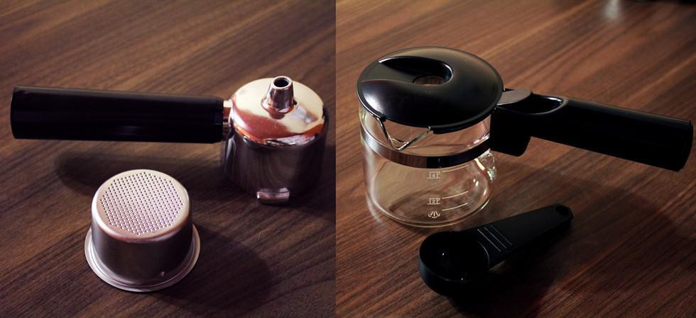 фильтр для загрузки кофе и стеклянная турка