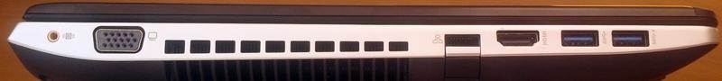 ASUS N56DY - левая боковая панель