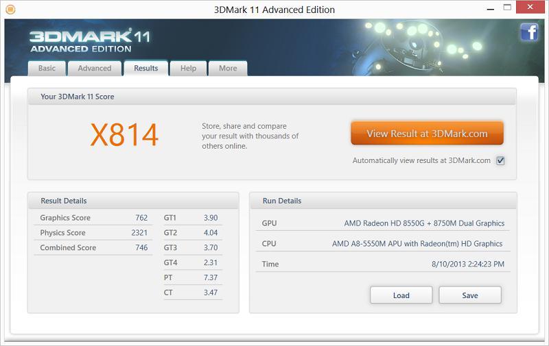 ASUS N56DY - 3D Mark 11