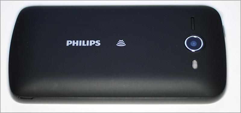 Philips Xenium W336 - вид сзади