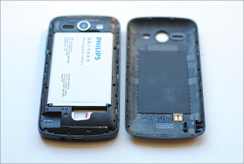 Philips Xenium W336 антенна NFC