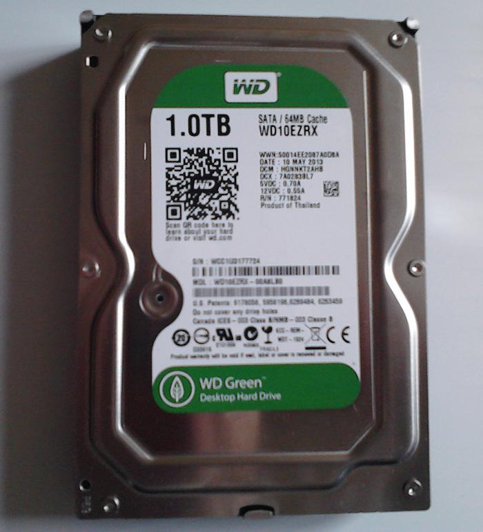 WD green 1 TB