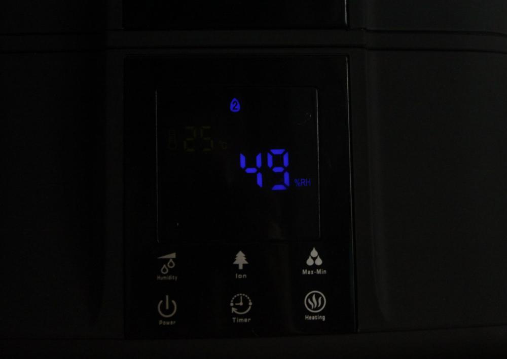 экран с панелью управления