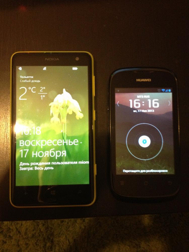 Lumia 625 в сравнении с Huawei 201 pro