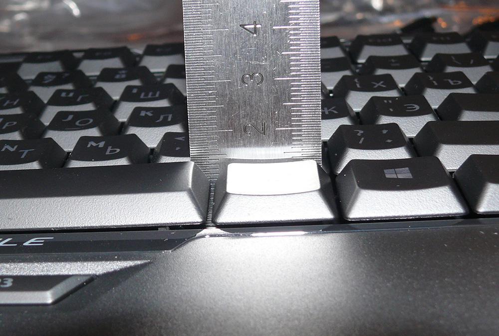Глубина под клавишами