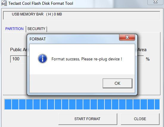 Teclast Cool Flash Disk Format Tool