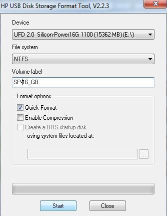 USB Flash drive Silicon Power Ultima II 16 GB - NTFS