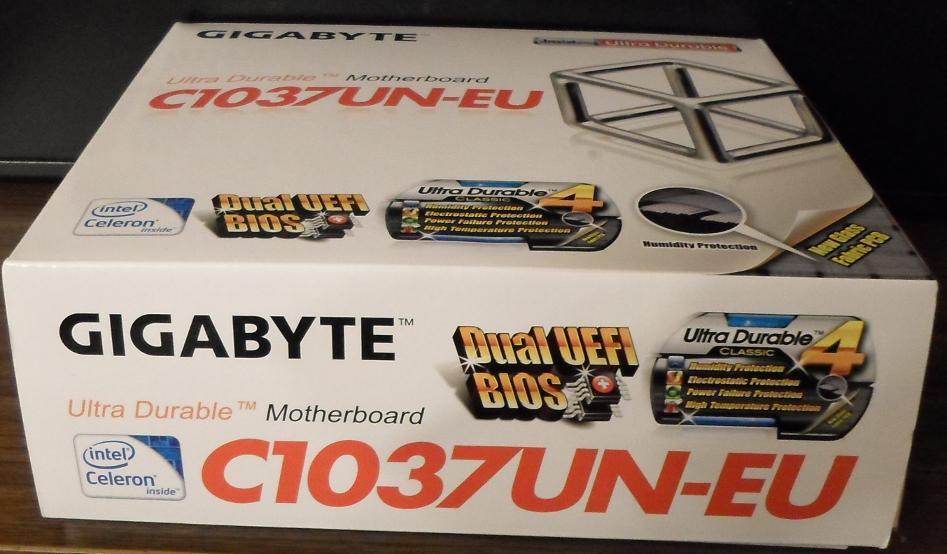 Retail box Gogabyte GA-C1037UN-EU