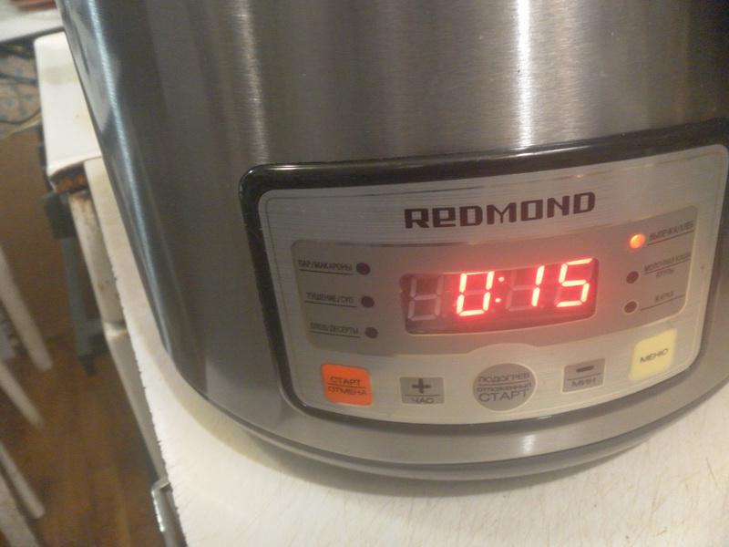 Режим выпечка/хлеб под крышкой 15 мин.