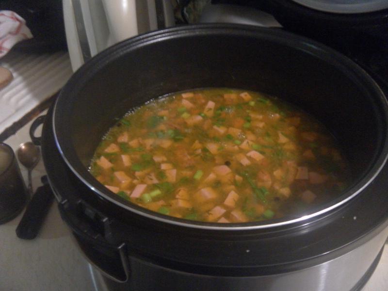 Гороховый суп готов.