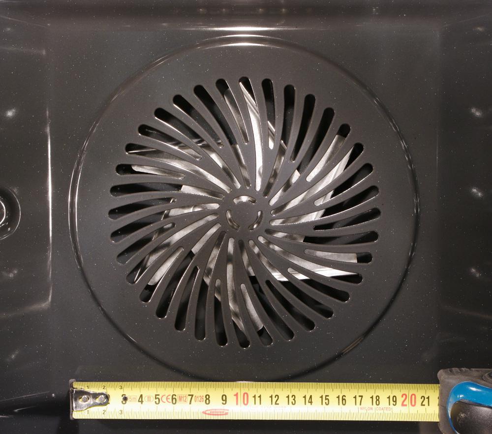 Размеры внутреннего вентилятора