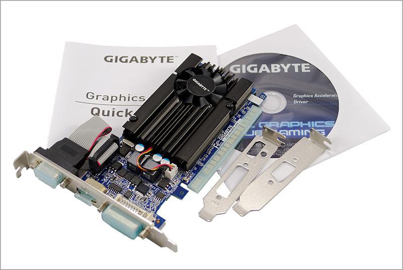 Недорогая видеокарта GIGABYTE GeForce GT 610