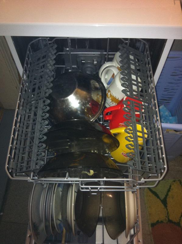 Размещение посуды.