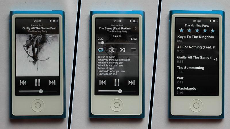 Интерфейс проигрываемой песни