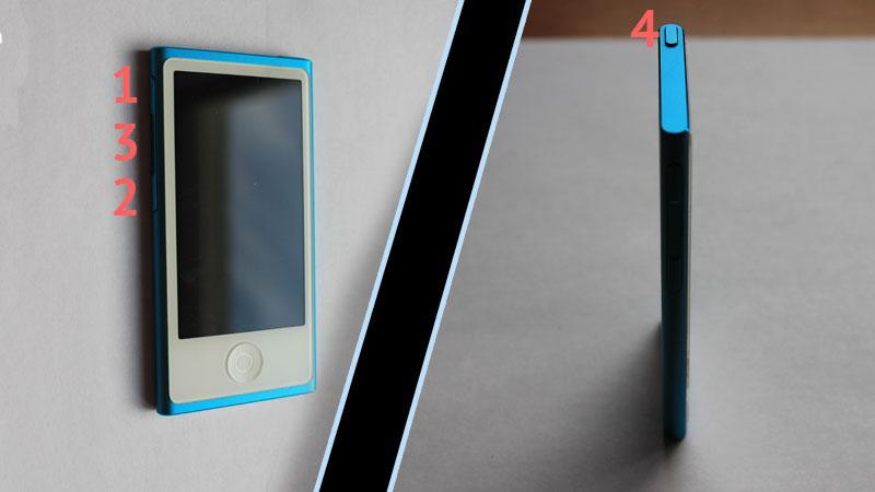 кнопки на iPod nano 7