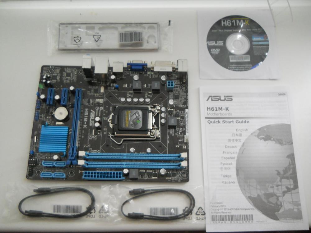 Обзор о товаре материнская плата Asus H61M-K Soc-1155 Intel