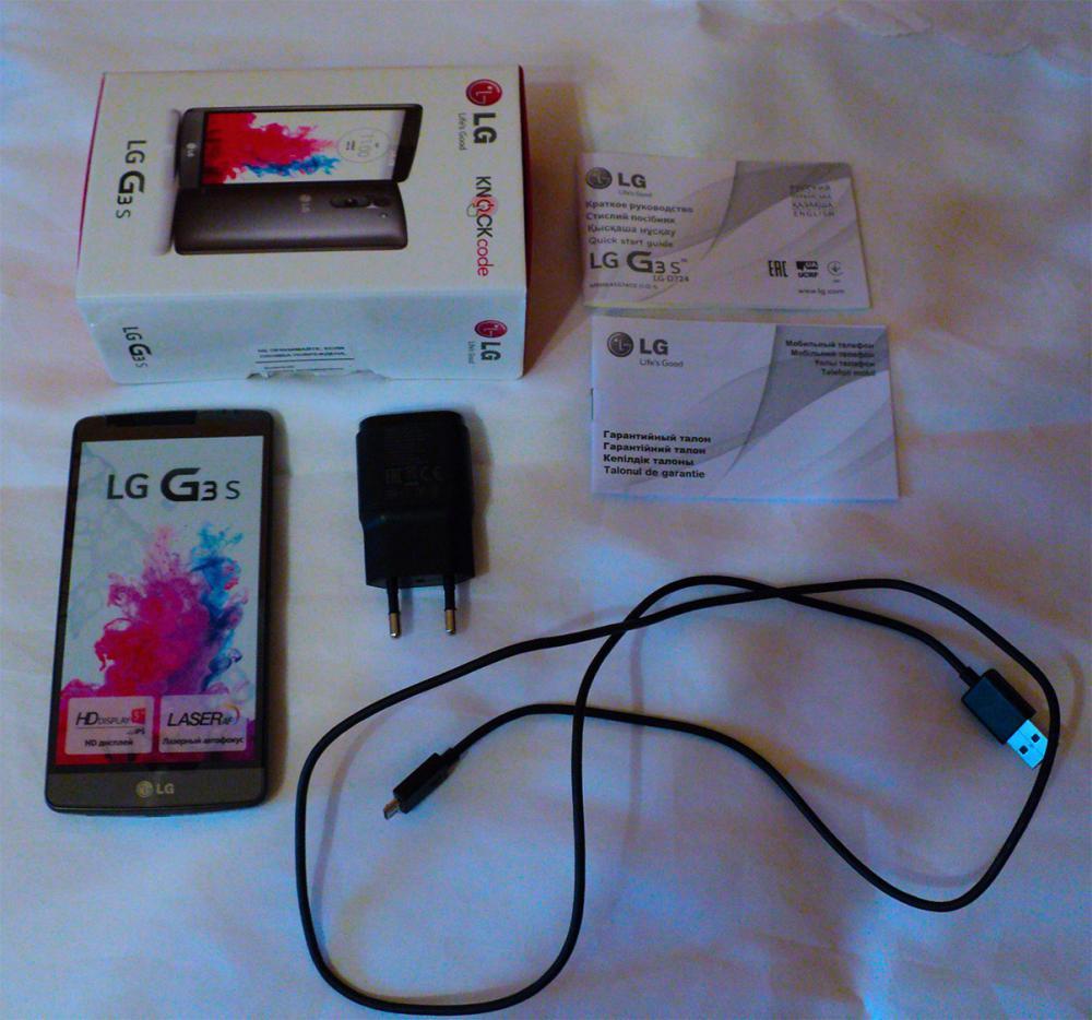 Комплектация LG G3s