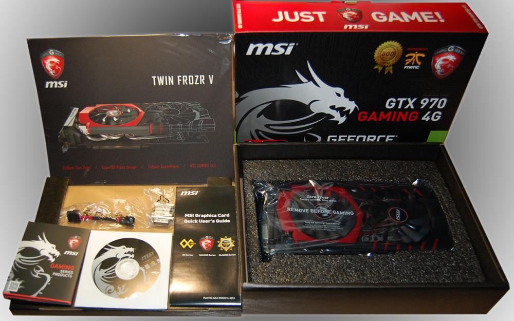 Содержимое коробки с GTX970