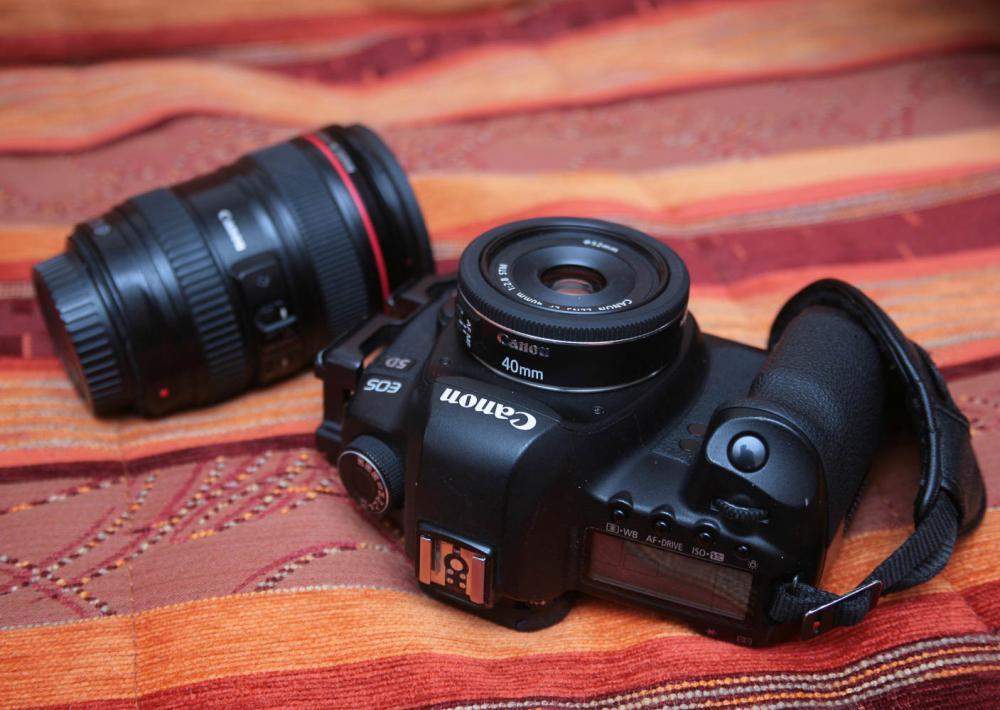 Объектив на камере