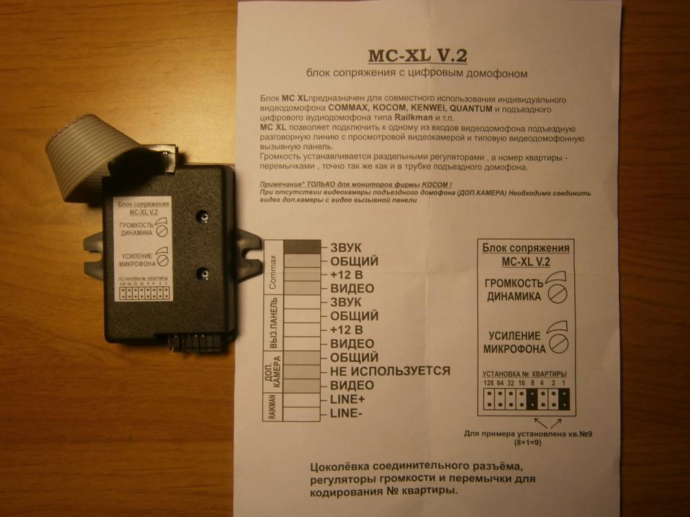 Модуль сопряжения MC-XL V.2 с