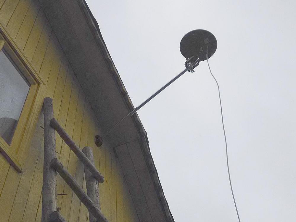Установка антенны на дом