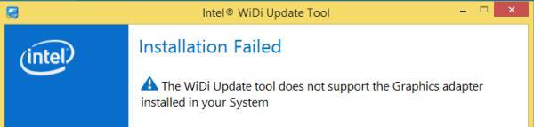 А вот подключиться к беспроводному дисплею Acer Switch 10 не получится: утилита говорит, что эта технология устройством не поддерживается.