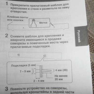 <фото: инструкция как вешать>