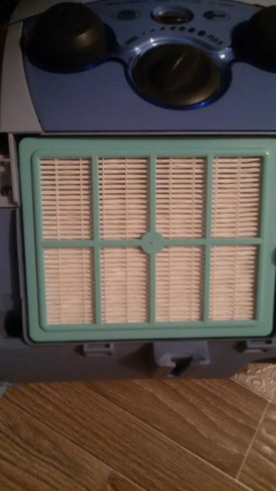 Вот так вставляется в пылесос.Моется этот фильтр без проблем 4 раза за весь срок использования.