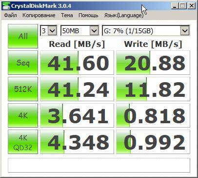 Скорость порт USB 2.0  флешка USB 3 KINGSTON DataTraveler microDuo 16Гб