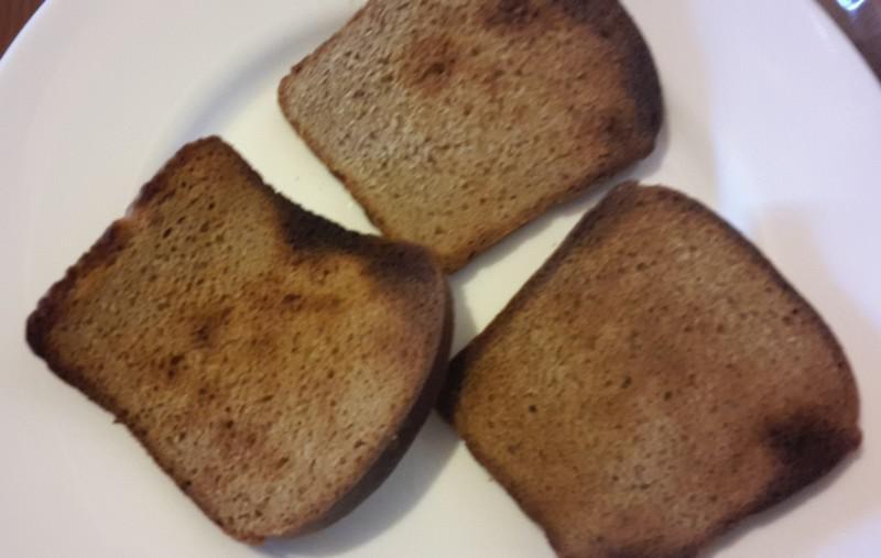 Зажарили хлеб