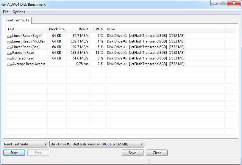 Скорость чтения USB 3.0 - 1
