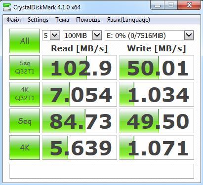 Скорость чтения USB 3.0 - 2