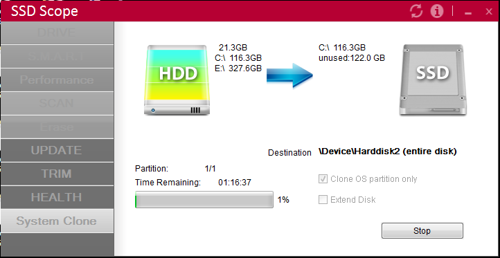 clone 3, Transcend SSD370S
