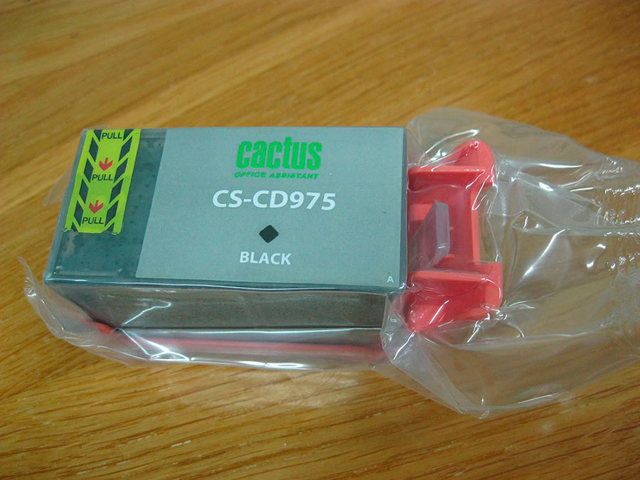 Сам картридж дополнительно запечатан в вакуумный полиэтиленовый пакет