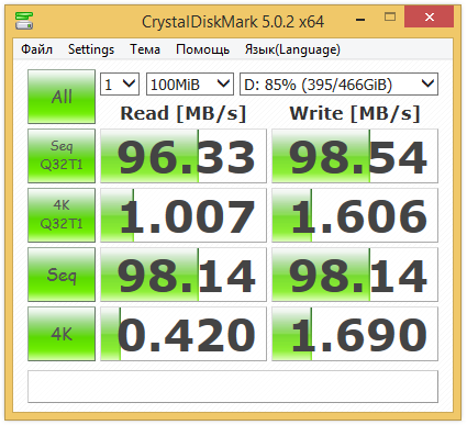 crystal disk mark Жесткий диск SEAGATE Samsung Momentus ST1000LM024, 1Тб, HDD, SATA II, 2.5""