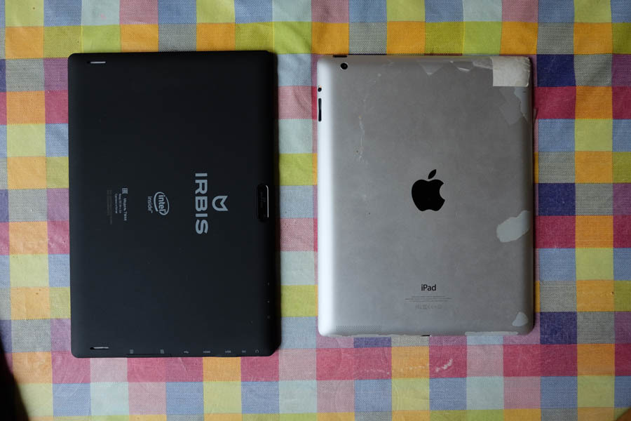 Irbis vs iPad 4