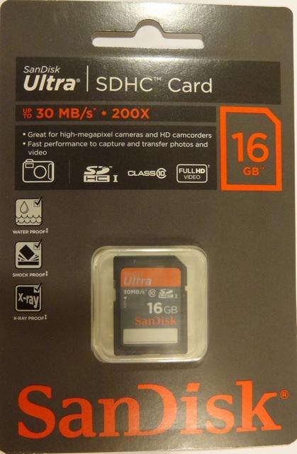 Sandisk Ultra упаковка