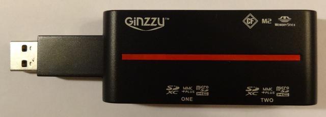 картридер GINZZU GR-326B USB 3.0
