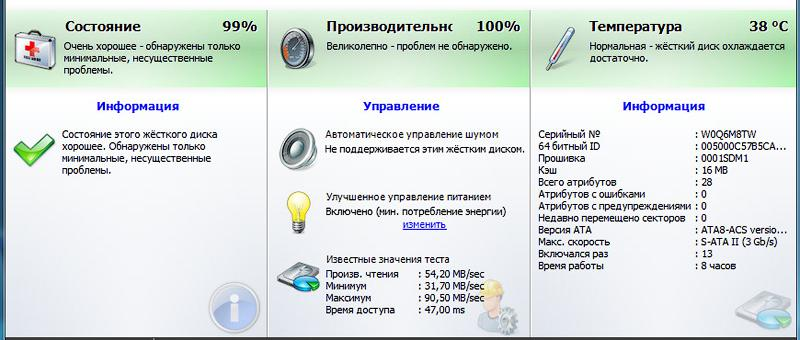 Общие сведения через программу Ashampoo HDD Control 2