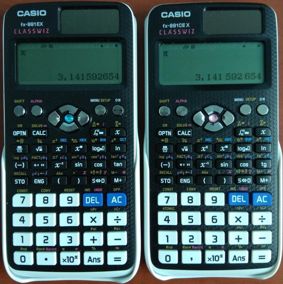 FX-991EX и FX-991CEX