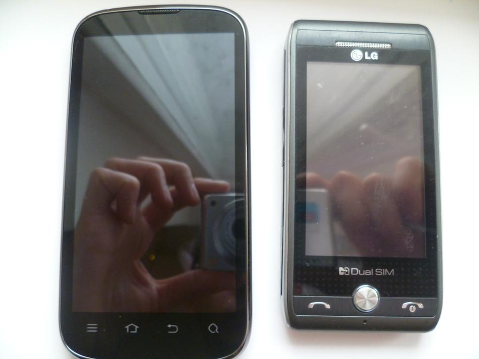 ZTE V970M в сравнении LG GX500