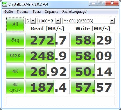 CrystalDiskInfo 1000MB