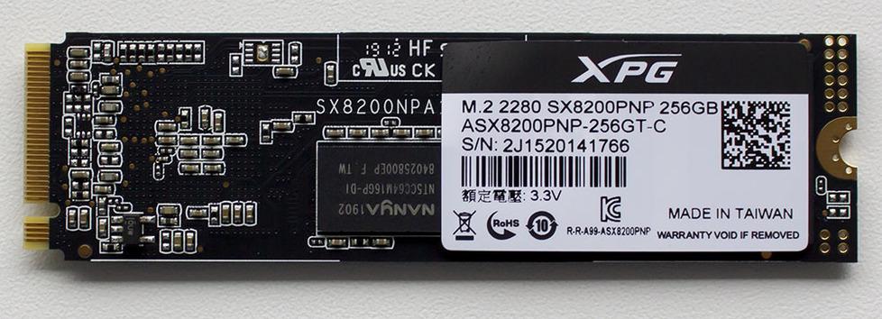 A-DATA XPG SX8200 Pro ASX8200PNP-256GT-C