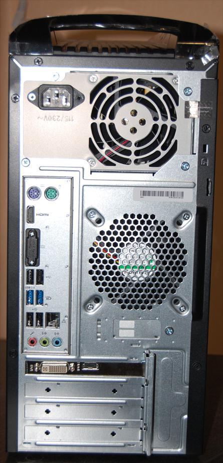 задняя сторона системного блока acer 3620
