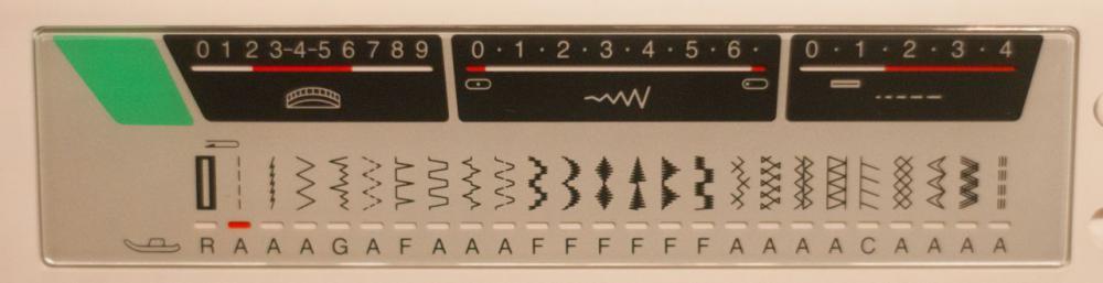 Типы строчек (операций) Janome 7524A