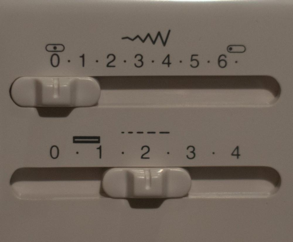 Регуляторы ширины и длины стижка Janome 7524A