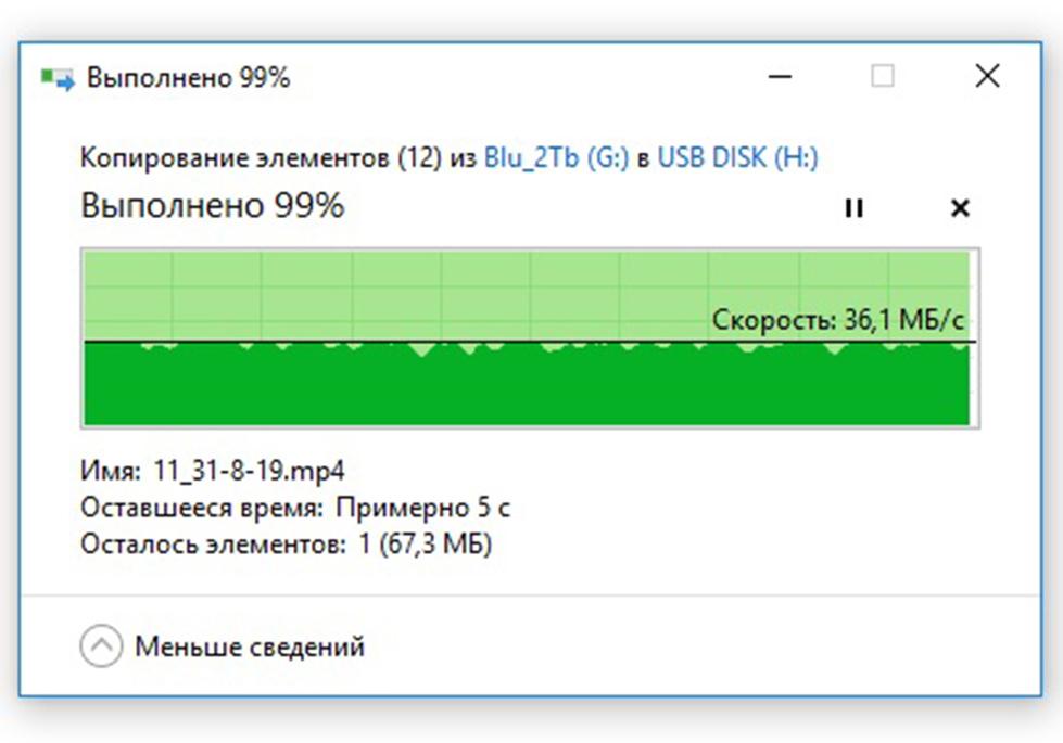 Запись видео на флешку USB DATO DB8002U3 32Гб, USB2.0