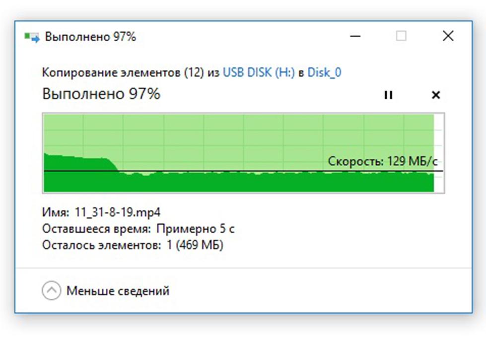 Чтение видео по USB3.0 с флешки USB DATO DB8002U3 32Гб